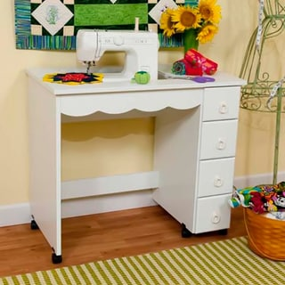 Arrow 'Shirley' White Sewing Table Cabinet