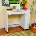 Arrow &#39;Shirley&#39; White Sewing Table Cabinet