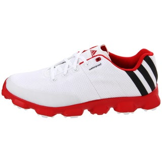 Adidas Men's CrossFlex White/ Red Golf Shoes
