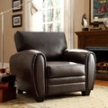 Jaxon Brown Bonded Leather Chair