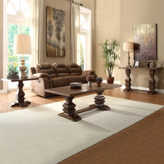 TRIBECCA HOME Atelier Traditional French Burnished Brown 3-piece Occasional Set