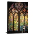 Banksy 'Stained Glass Window Graffiti' Canvas Print Wall Art
