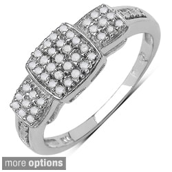 14k Gold over Silver 1/4ct TDW Diamond Ring (I-J, I3)