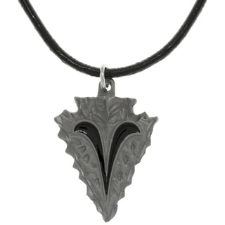 CGC Pewter Tribal Ram Horn Arrowhead Necklace