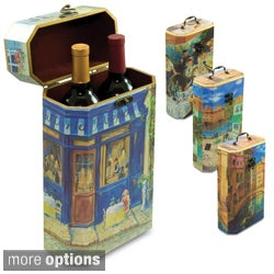 Art Themed Two-Bottle Wine Box