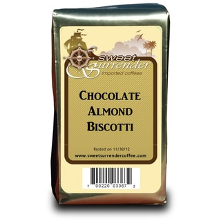 Sweet Surrender Chocolate Almond Biscotti Premium Decaf Coffee