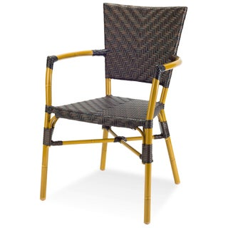 Capri Indoor/ Outdoor Resin Wicker and Faux Bamboo Arm Chair