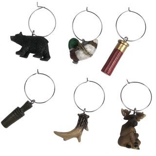 Rivers Edge Products 6-Piece Hunting Wine Charms