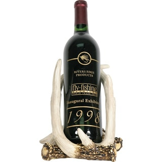 Hand-painted Resin Deer Antler Wine Bottle Holder