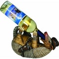 Hand-painted Resin Armadillo Wine Bottle Holder
