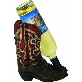 Hand-painted Resin Cowboy Boots Wine Bottle Holder