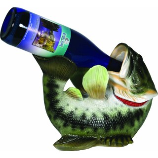 Hand-painted Resin Bass Wine Bottle Holder