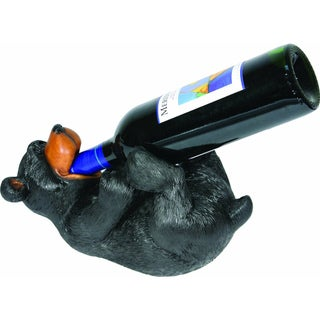 Hand-painted Resin Bear Wine Bottle Holder