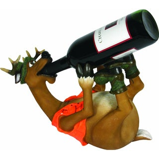 Hand-painted Resin Deer Wine Bottle Holder