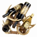 Hand-painted Resin Deer Antler 4-bottle Wine Rack