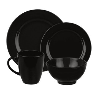 Waechtersbach Fun Factory Black 16-piece Dinnerware Set