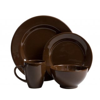 Waechtersbach Fun Factory Chocolate 16-piece Dinnerware Set