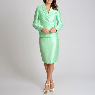 Signature by Larry Levine Women's Sea Lily Skirt Suit