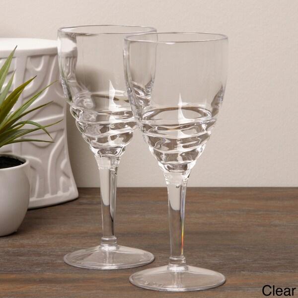 Diligence4us Acrylic Swirl 14-ounce Wine Glasses (Set of 6)