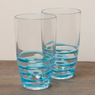 Diligence4us Acrylic Swirl 19-ounce HB Tumblers (Set of 6)
