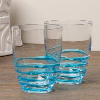 Diligence4us Acrylic Swirl 14-ounce DOF Tumblers (Set of 6)