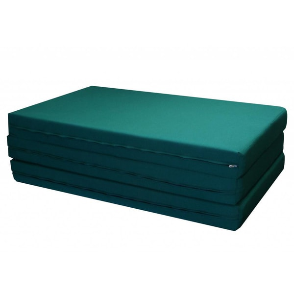 Green Twin 76 Inch Foam Tri Fold Camping Exercise Mat