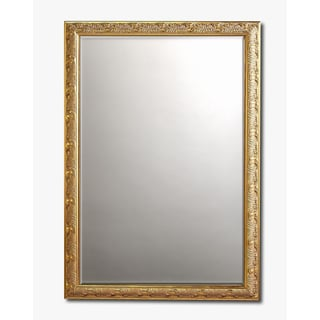 Baroque Gold Framed Beveled Wall Mirror