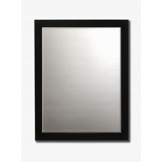 Contemporary Black Framed Beveled Wall Mirror