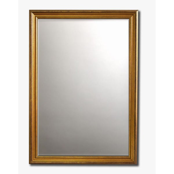 """Classic Gold-Framed Beveled Wall Mirror(30"""" x 26"""")"""
