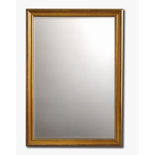 "Classic Gold-Framed Beveled Wall Mirror(30"" x 26"")"