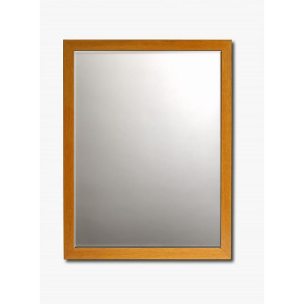 Beech Framed Beveled Wall Mirror