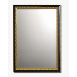 Gilded Ebony Framed Beveled Wall Mirror