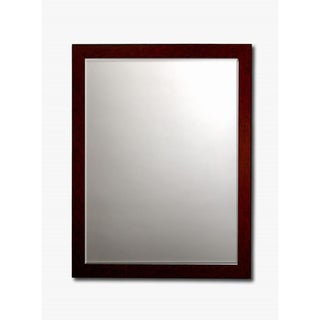 Mahogany Framed Beveled Wall Mirror
