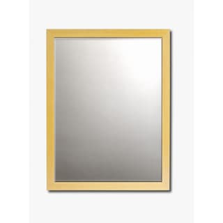 Maple Framed Beveled Wall Mirror
