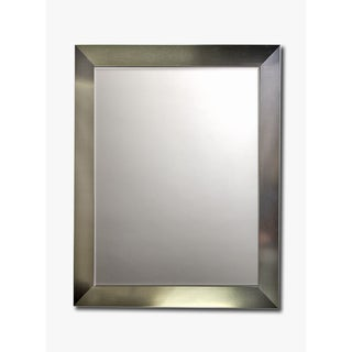 Stainless Framed Beveled Wall Mirror