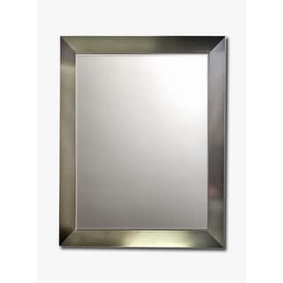 Stainless Framed Beveled Wall Mirror