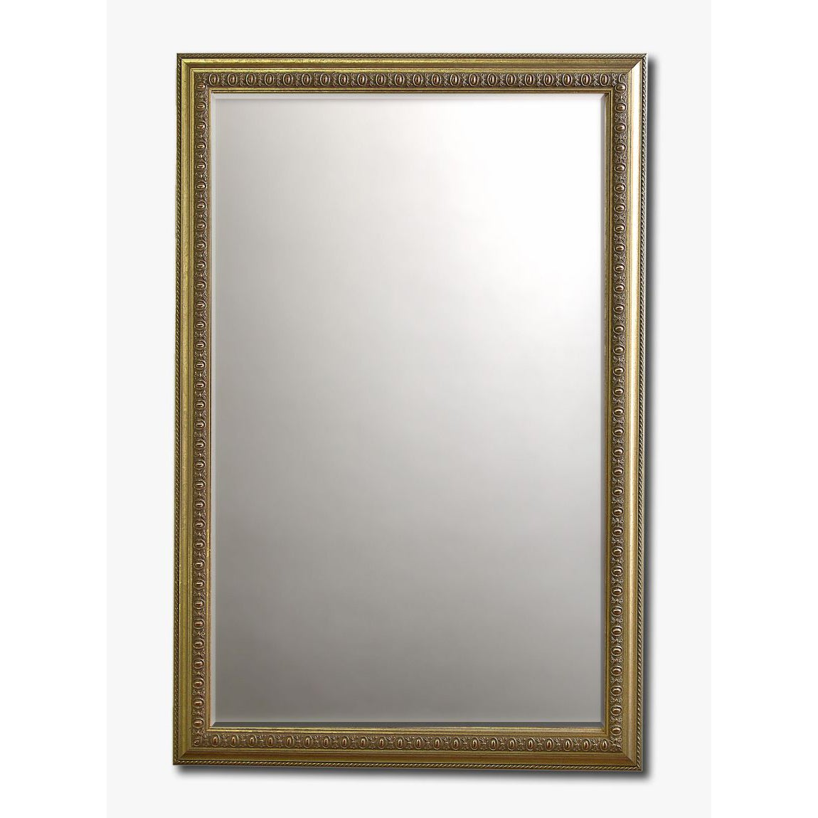 Overstock.com Rococo Silver Framed Beveled Wall Mirror