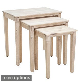 Christopher Knight Home Quentin Acacia Wood Nesting Tables (Set of 3)