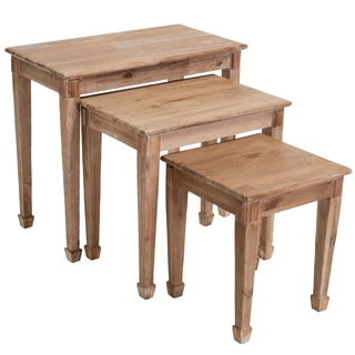 Christopher Knight Home Crescent Acacia Wood Nesting Tables (Set of 3)
