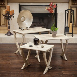 Christopher Knight Home Melody Acacia Wood Nesting Table (Set of 3)