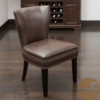 Christopher Knight Home Jackie Brown Leather Accent Dining Chair