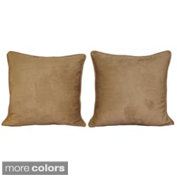 Blazing Needles 25-inch Microsuede Floor Pillow with Cording and Inserts (Set of 2)