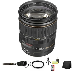 Canon EF 28-135mm f/3.5-5.6 IS Image Stabilizer USM Autofocus Lens Bundle