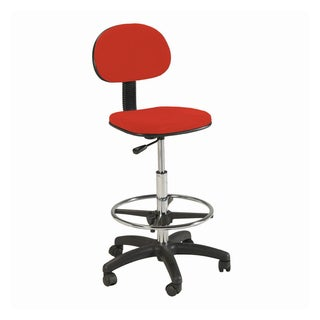 Offex Stiletto Red Drafting Chair