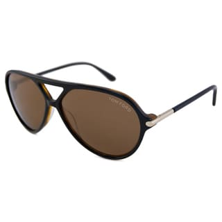 Tom Ford Men's TF0197 Leopold Havana/Brown Aviator Sunglasses