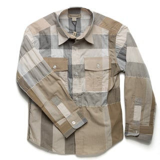 Burberry Boy's Check Print Button-down Shirt