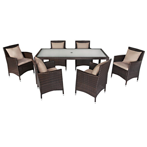Angelo home napa estate summer cocoa brown indoor outdoor dining set 15289385 Angelo home patio furniture