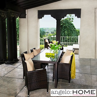 angelo:HOME Napa Estate Summer Cocoa Brown Indoor/ Outdoor Dining Set