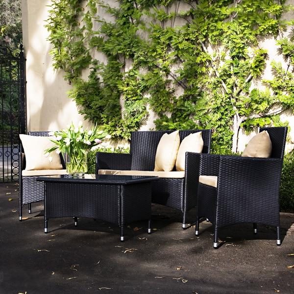 Better Living Dorchester Brown Wicker Indoor/Outdoor 4-piece Set