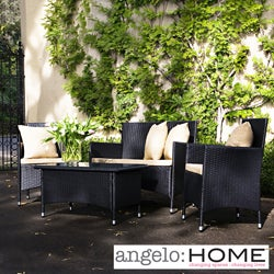 angelo:HOME Napa Estate Summer Brown Wicker Indoor/ Outdoor 4-piece Set